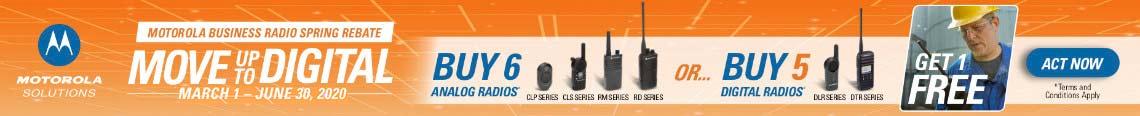 Motorola Business radio end-user rebate spring 2020
